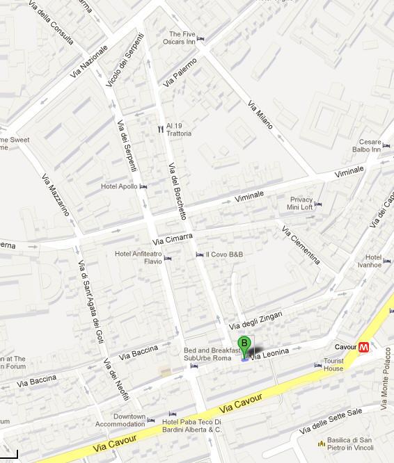 Kort Over Montikvarteret I Rom